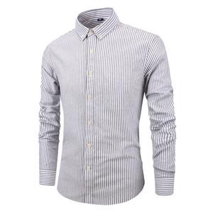 Men's Slim Fit Long Sleeve Dress Shirt Europe Business Causal Border Shirt High Quality Wedding Grooms Shirts