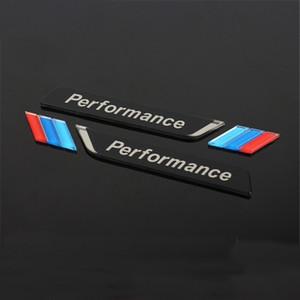 2pcs / set Bmw Performans M Sport Güç Akrilik Malzeme Çamurluk Arka Kuyruk Bagaj Amblem Sticker çıkartma