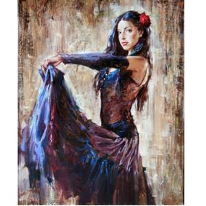 """Impressionismo di Wall Art Ritratti di pittura ad olio: Danza ragazza immagini su tela 24x36 """"decorazione domestica"""
