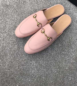 2017 new Quality Women Princetown Stamp Leather Print Slipper Shoes,Leather Sole,Horsebit detail,Size 35-40,Free Shipping
