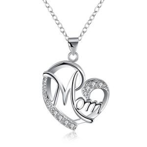N849 Mon Grado Superior Diamante Colgante Collar Cubic Zircon plata esterlina Little Mermaid collar colgante para el banquete de boda joyería de las mujeres