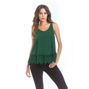 Reizvolle Frauen, welche die beiläufigen Normallack-T-Stücke Sommer-Frau aushöhlen heraus ärmellose Oberseiten-Schaufel-Ansatz-T-Shirts kleiden Freies Verschiffen
