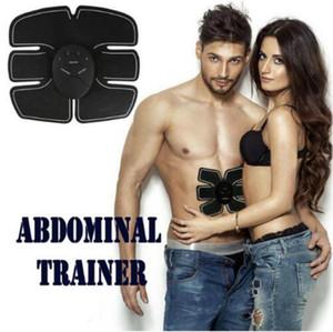 Alta calidad ! Dispositivo Estimulador de Entrenamiento Muscular Abdominal Wireless EMS Belt Gym Professinal Body Slimming Massager Home Fitness Beauty Gear