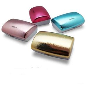 Cas de lentilles de contact de luxe avec miroir Boîte de lentilles de contact coloré Cas de lunettes de voyage portable Accessoires de lunettes