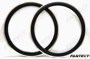 Cerchi in lega 700C 23mm larghezza cerchi in carbonio superficie 50mm profondità Copertoncino bici da corsa single cerchio 3k / UD finitura opaca personalizzabile