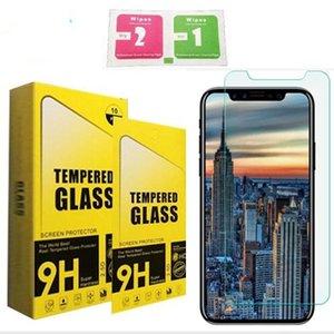 9H 0.26mm Premium verre trempé Anti Scratch Guard + Outil de nettoyage pour iPhone 6s 7 plus 8 8plus x Samsung S7 S8 Note 8 avec emballage de vente au détail