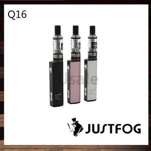 Justfog Q16 Starter Kit con batería incorporada de 900 mAh Tanque de 1.9 ml Control de flujo de aire inferior fácil 100% original