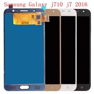 Samsung Galaxy için 10 parça DHL J7 2016 J710 cep telefonu ekran SM J710F J710FN J710M J710H J710A LCD dokunmatik ekran + ücretsiz kargo