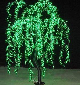 Sauce Artificial de Sauce Llorón de Luz Artificial Uso Al Aire Libre 945 unids LEDs 1.8m / 6ft Altura Árbol de Decoración de Navidad a Prueba de Lluvia LLFA