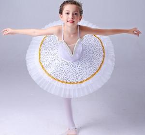 danse classique blanc Paillettes Little Swan professionnelle Lac tutu pour les enfants jupe ballet pour les enfants robe de performance