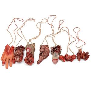 Broken Finger Hand Foot Blood Horror Decoración de Halloween Severed Bloody Limbs Novedad de la mano Muertos Gadgets de mano rota