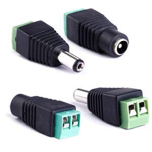 2.5 x 5.5mm DC Femme et fiche mâle Jack adaptateur connecteur Prise pour led strip