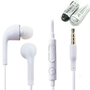 3,5 milímetros ouvido intra-auriculares estéreo J5 Headset Headphone Com Mic Volume Controle Remoto Microfone Earbud boa qualidade para Samsung S4 S5 S6