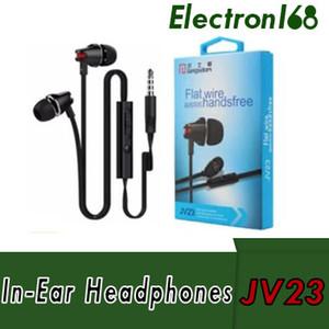 Eaphone do controle de volume de Langsdom JV23 com o Mic para o telefone móvel de Samsung do iPhone com pacote de varejo