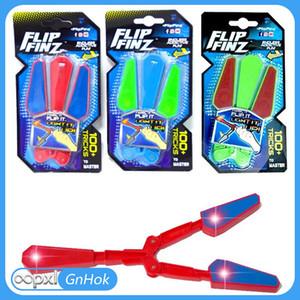 Flip Finz Fidget Spinner Toys Azul Rojo Verde Twirl Flip Light Up con LED OVP Diversión adictiva sin fin Juguetes variados para adolescentes fsdf