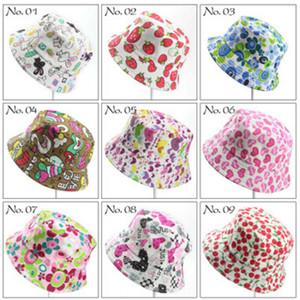 40 Colores Niños Sombrero Bucket Ocasional Flor Sol Impreso Lona Topee Niños Sombreros Gorros de Bebé Gorro