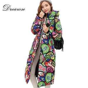 Dreawse 무료 배송 새로운 가을 겨울 코트 디자인 패딩 다운 코튼 플러스 사이즈 슬림 재킷 후드 지퍼 여성 패션 MZ1738 D1891902