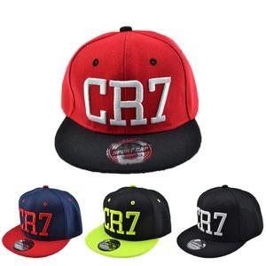 Los nuevos niños de la estrella de fútbol Ronaldo CR7 bordado gorra de béisbol para niños Bone Niño Niña Deportes Snapback Caps Hip-hop Gorras