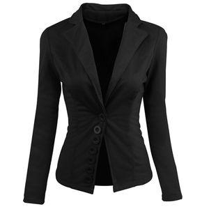 2018 New Autumn Womens Business Suits Fashion single breasted women Blazers Jackets Short Slim long-sleeve Femme Blazer Suit