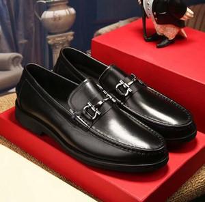 Designer Shoe Doug métal boucle robe chaussures en cuir couche supérieure chaussures en cuir pour les jeunes populaire logo hommes formelle chaussures de mariageG3,13
