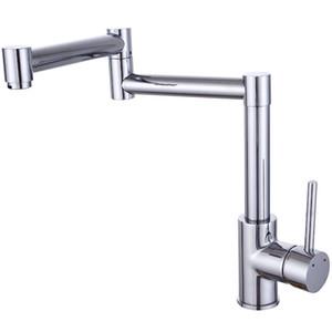 Folding Dehnbare Doppelgelenk Schwenkarm Wasserhahn Universal Rotation Klapp Wasserhahn mit Doppel Faltbare Joint Arm