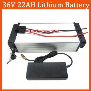 Высокое качество 1000 Вт 36 В 22AH Электрический велосипед Литиевая задняя стойка Батарея Использование 2200 мАч с 30A BMS и 42 В 2A зарядное устройство