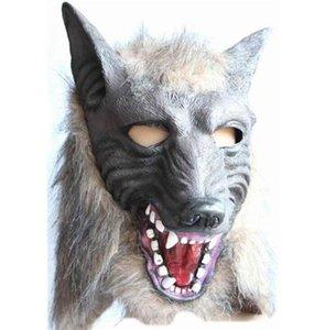 2018 Оборотень Хэллоуин Маска Большой Плохой Волк Взрослый Полный Голова Волк Маска Костюм Аксессуар Партии Маски