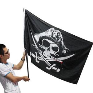 90x150cm Grande Teschio Fascia Crossbones Bandiera Pirati Jolly Roger Roger Appeso Con Passacavo Per Ktv Bar Home Decorazione Praty 3x5FT