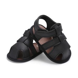 Erkek Bebek Ayakkabı Yenidoğan Ayakkabı Siyah Gri Erkek Bebek Ayakkabıları Yaz Toddler İlk Walker PU Deri Bebek Prewalker
