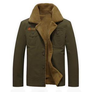 Homens quentes Casacos de Inverno Casaco Estilo Britânico Moda Qualidade Grosso Quente Forrado de Poliéster Macio À Prova de Vento Macho Militar Jaquetas