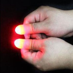 Hot Sale Magic Super Bright LED Light Up Thumbs Fingers Trick Appearing Light Close Up Light-Up Toys