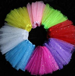 Hilados de encaje Niñas Shining Star Dance Falda TUTU Princesa Pretty Skirt Faldas Puffy para niños xmas Vestido de fiesta 11 colores 10 piezas mucho