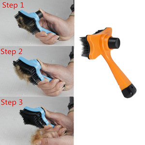 New Pet Dog Cat Hair Fur Shedding Trimmer Grooming Rake Professional Comb Brush Tool Random Color