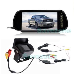 """CCD Sem Fio 18 IR LED Night Vision Câmera de Backup Reversível À Prova D 'Água + 7 """"LCD Monitor Espelho Retrovisor Do Carro Kit de Assistência de Estacionamento"""