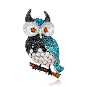 Broche Ctystal Cute Owl Broche Bird Collection Broche