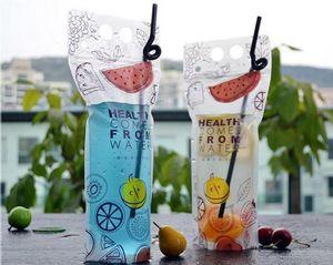 500 мл прозрачный самоуплотняющийся пластиковый напиток DIY летний напиток контейнер питьевой мешок фруктовый сок для хранения продуктов питания партии напиток мешок