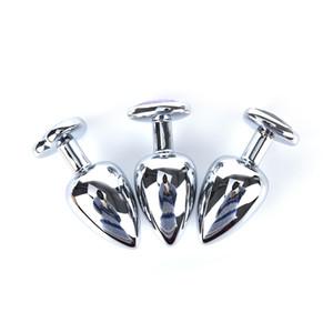 Alta Qualidade 90 * 40mm Aço Inoxidável Metal Butt Plug brinquedos Coração Forma de Jóias de Cristal De Metal Butt Plug Favor de Partido tamanho grande