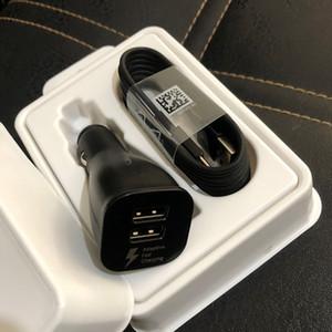 OEM 2 chargeur double voiture Adaptateur USB rapide + 1,5M Charging Type c Câble USB pour Samsung s8 s9 Avec l'emballage et le logo
