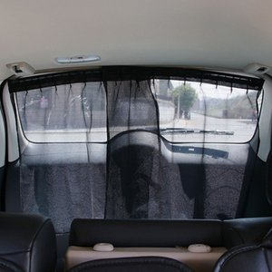 La ventana indiscreta 2 piezas de coche universal de la sombrilla Cortina de protección UV Dos paño de la tela de malla ventana de coche de la sombrilla cubierta del coche-Styling