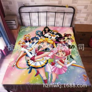 120 * 200 cm Japonya Anime sailor moon Flanel Battaniye Yatak Mantas Banyo Peluş Havlu Hava Durumu Uyku Kapak yatak