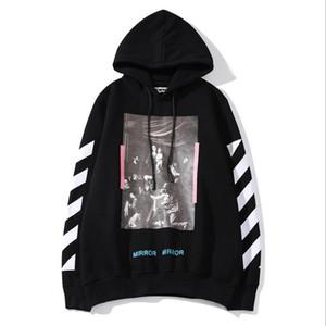 남자의 후드 유럽과 미국 2019 새로운 스타일의 가을과 겨울 클래식 흑백 스웨터 재킷 M-2XL