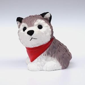 10 pçs / lote squishy cão husky squishies toys único lento aumento elástico squeeze toys para crianças aliviar a pressão toys presentes