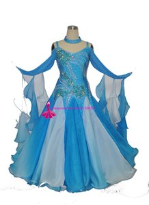 Standard Ballroom Dance Dress Femmes Brillant Stage Valse Concurrence Moderne Danse Jupe Flamenco Ballroom Dance Robes