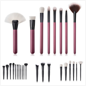 Wood Handle Makeup Brush Set Foundation Powder Eyeshadow Concealer Blusher Makeup Brushes Cosmetic Tool Kit 3  6  8  11pcs