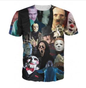 Korku filmi tee sinema katiller t- shirt yeni moda erkek kadın 3d karakter t- shirt rahat t shirt 3d baskı t shirt üstleri dc015