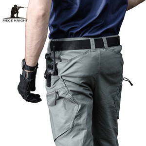 Mege Brand Army Pants Men's Urban Tactical Clothing Combat Trousers Multi Pockets Unique Casual Pants Ripstop Fabric