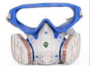 Freeshipping neue Art Anzug Respirator Malerei Sprühen Gesicht Gasmaske mit Schutzbrillen Gläser Farbe