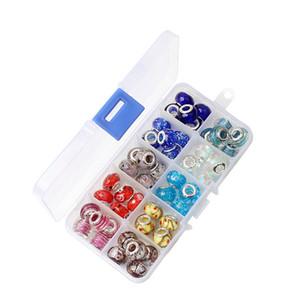50PCS 10 Mixed Styles Wholesale Alloy Beads Charms For Pandora DIY Jewelry European Bracelets Bangles Women Girls Gifts B015