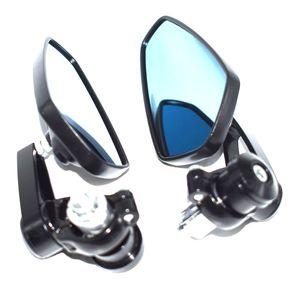 22mm için Yeni Çifti Evrensel Motosiklet CNC Alüminyum Motosiklet Dikiz Aynası Gidon End End Yan Aynalar Altın