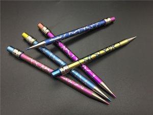 Cam Suyu petrol kulesi Borular için Titanyum gör dabber ile Yeni Tasarım Titanyum Dab Aracı Kubbesiz Renkli Kalem Titanyum Nail